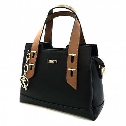 VERN'S Ladies Top Handle Fashion Shoulder Bag - B04042910