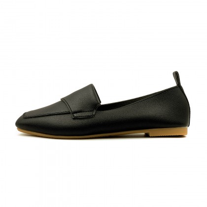 Square Toe Loafer Flat Pumps - S10045510